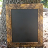 Rustic Chalkboard in Antique Gold Frame