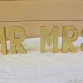 "Glitter Letters ""Mr"" and ""Mrs"" - Available in Gold, Rose Gold, or Silver"