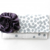 Clutch Purse, Purple and Grey, Bridesmaid Clutch