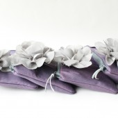 Bridesmaid Clutch Set, Grey and Purple