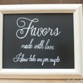 Chalkboard Wedding Favors Sign