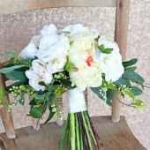 Classic white wedding bouquet, silk bouquet, white, bridal bouquet, peony, peonies, artificial flowers, boho, bohemian