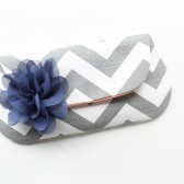 Bridesmaid Clutch, Navy and Grey, Coral, Chevron