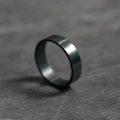 Men's Band in Oxidized Sterling Silver