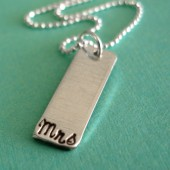 Mrs. Bar Pendant Necklace in Sterling