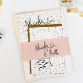 Polka dot, confetti wedding invitation – Shayla Collection