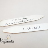 Personalized Sterling Silver Collar Stays