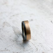 Mixed Metal Mens Wedding Band