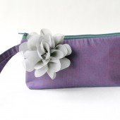 Purple Wristlet Clutch