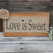 love is sweet sign . burlap love is sweet wedding banner rustic shabby chic wedding . country love is sweet sinage vintage banner