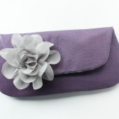 Bridesmaid Clutch, Purple and Gray