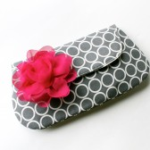 Bridal Clutch in Gray and Pink