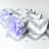 Bridesmaid Clutch Set, Gray and Lavender