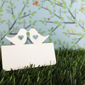 Love bird with heart place card