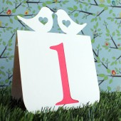 Love bird with heart table number