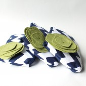 Clutch Set, Navy and Green