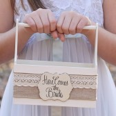 Here come the bride floer girl basket