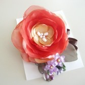 Dreamy Rose Flower Hair Clip Handmade - Garden Rose Bouquet