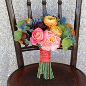 Bright and Colorful Faux Succulent Wedding Bouquet