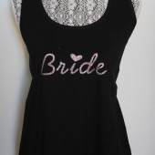Bride racerback tank with heart