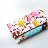 Pink and Aqua Clutch Purse