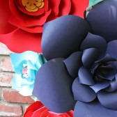 Paper Flower backdrop, paper flower wall, wedding decor,
