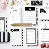 Black and White Printable Bridal Shower Games