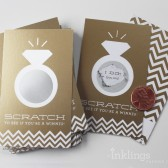 Matte Gold Ring Bridal Shower Scratch-Off Game