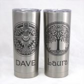 Firebird & Celtic Tree of Life personalized tumblers