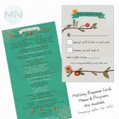 Vintage Love Birds Program and Invite Suite