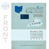 Vintage State Outline Save the Date