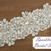 Isabel Bridal Sash - SparkleSM Bridal Sashes