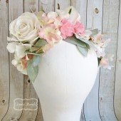 Wedding Headpiece, Ivory Flower Crown, Bridal Headband,