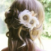 Ivory bridal Hair Fascinator
