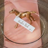 Gold Animal Escort Card