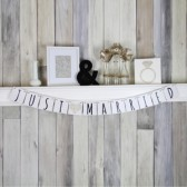 Just Married Modern Wedding Banner