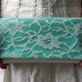 jade satin clutch