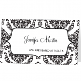 Damask Place Card Template