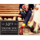 Jessica – Modern Typography Wedding Thank You Cards