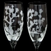Joshua Tree Champagne Flutes, Desert wedding