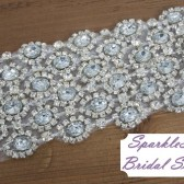 Julia Bridal Sash - SparkleSM Bridal Sashes