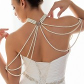 Karrisa- Elegant cascading pearl and rhinestone necklace (over 1000 pearls)