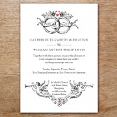 Kate and Wills Printable Wedding Invitation