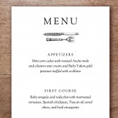 Kate and Wills Printable Wedding Menu