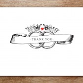 Kate and Wills Printable Thank You Card