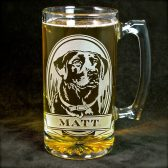 Personalized Labrador retriever beer mug
