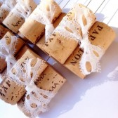 Wine Corks & Lace Table Number Holder or Sign Holder