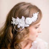 bridal, lace, headpiece, lace hair piece, lace hair accessories, handmade wedding, hairpiece