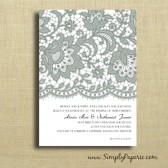 Vintage Lace Inspired Wedding Invitations