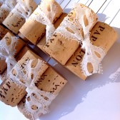 Lace and Wine Cork Table Number Holder